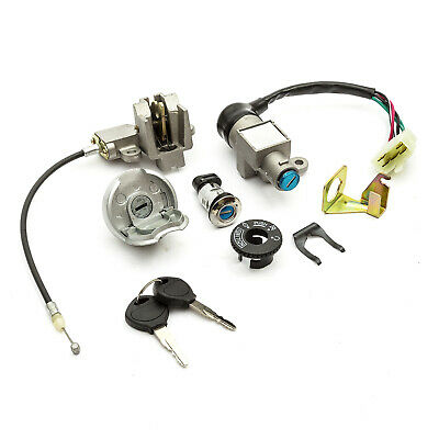 Key Ignition Lock Set Fits Peugeot V Click 50cc Includes Lockable Fuel Tank Cap