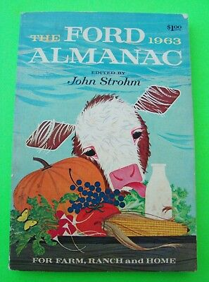 1963 Ford Almanac FARM & HOME FORECASTS New Ford Cars TRACTORS Trucks 180-pgs