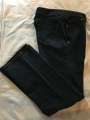 (*.*) LANE BRYANT * Womens GENIUS FIT SLIM BOOT Blue Jeans * Size 18 Tall
