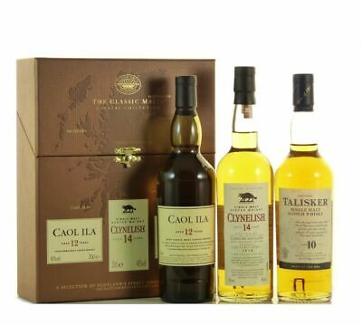 The Classic Malts - Coastal Collection, 3x 0,2l, Single Malt Scotch Whisky