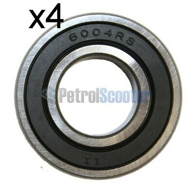 4x 6004RS Bearing Gokart Kart Prokart Wheel Roller Ball Bearing 6004ZZ Karting