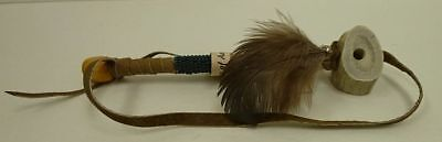 Authentic Hand Made Native American Peace Pipe GREEN functional Deer Antler COA
