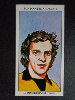 DONALD PARK SUN-SOCCERCARDS FOOTBALL-#0683 PARTICK THISTLE