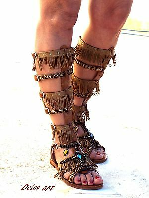 15e1681b4a4b5 Native America Tall gladiator sandals