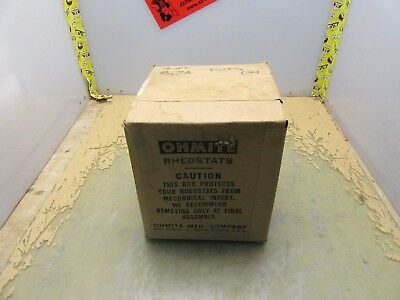 Box of 2 New in Box Vintage Ohmite Model N Rheostats 4 Ohm 8.7A  [4*H-12]