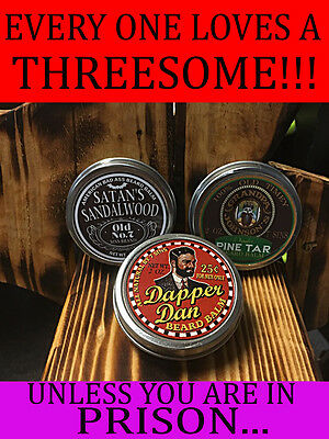 7 Sins Beard Oil  3 Pack 2 Oz DAPPER DAN, SATAN'S SANDALWOOD,GRANDPA JOHNSON'S