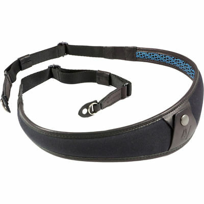 4V Design ALA Canvas and Leather Ring Fit Camera Neck Strap in Black/Black