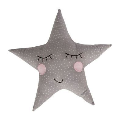 Polka Dot Pastel Star Cushion Pastel Grey Childrens Bedroom Cushion