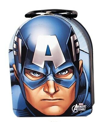 Incredible Avengers - Captain America - Head Shape Arch Carry All Tin Lunch Box