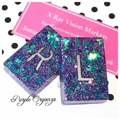 Pair of X-ray Markers - Add Initials Or Numbers And Free Chain Or Ribbon