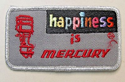 MERCURY OUTBOARD MOTOR 1970's vintage embroidered cloth shirt or jacket patch