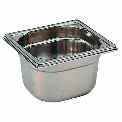 Bourgeat Stainless Steel 1/6 Gastronorm Pan 100mm Deep Food Container Storage