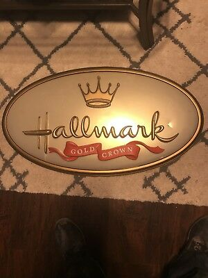 """HALLMARK GOLD CROWN SIGN Store Advertising 26""""x48"""" Store Display"""