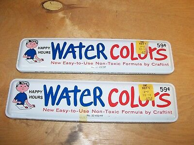 Lot Of 2 Vintage Happy Hours Water Color Set Craftint Cleveland Ohio No. 208