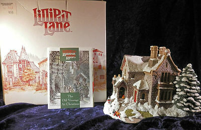 """Lilliput Lane Retired  """"The Old Vicarage at Christmas"""" 1991 MIB"""