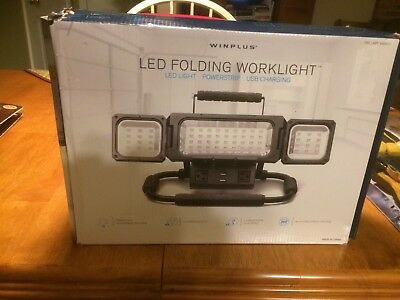 WINPLUS LED LIGHT  FOLDING  WORKLIGHT POWERSHIP USB CHARGING -new