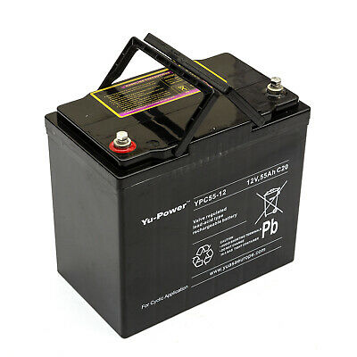 Yuasa YPC55-12 12v 55ah Lead-Acid Battery Golf Buggy Electric Outboard Motor