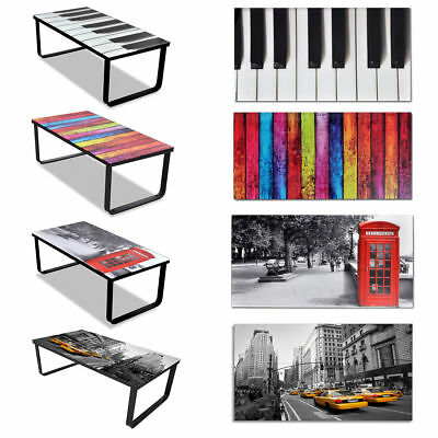 New Glass Coffee Table 3 Patterns Selectable Side Coffee End Table Living Room√