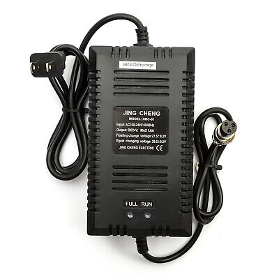 Electric Scooter BATTERY CHARGER 24 VOLT 24v USA Male Plug Fitting 1.6 Amp