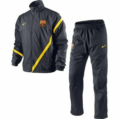 f756620fe76 NIKE FC BARCELONA SIDELINE WOVEN WARM UP TRACKSUIT City Grey/Tour Yellow.