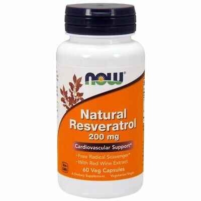 Natural Resveratrol 60 VCaps 200 Mg by Now Foods