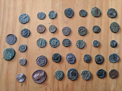 LOT OF 37 ANCIENT ROMAN UNCLEANED COINS TOP QUALITY Ae2-Ae3-Ae4