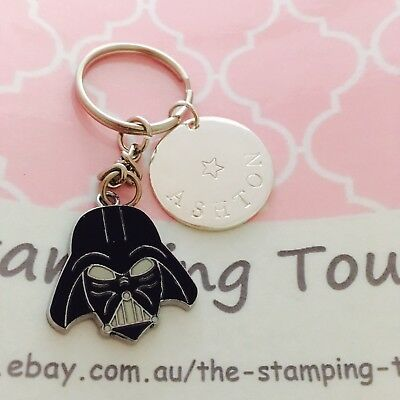 Personalised Hand Stamped Keyring - STAR WARS