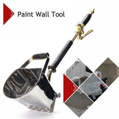 4 Jets Wall Painting Concrete Cement Stucco Gun Plastering Sprayer Hopper Tools