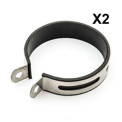 2 Exhaust Clamp Rubber Strap 10.3cm Chinese Scooter 50cc Baotian BTM Direct Bike