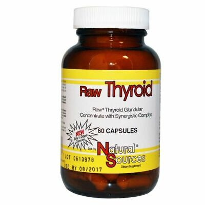 Raw Thyroid 60 caps by Natural Sources