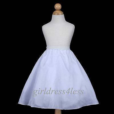 4-Layer Full Wedding Flower Girl Dress Slip Underskirt Crinoline Petticoat-S M L
