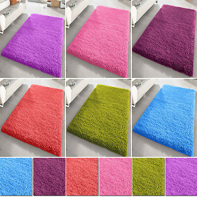 Small X Large Thick Shaggy 5Cm Rug Bedroom Living Room Soft Plain Rugs Carpet