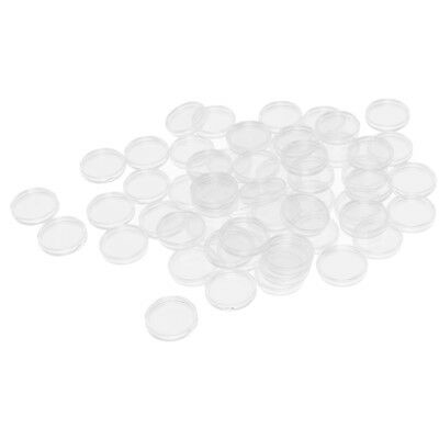 100Pcs Capsules Coin Holders Case PS for 24mm Coin Display Box Collection