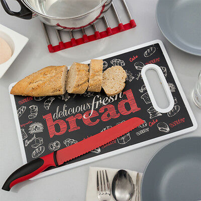Tabla de Corte y Cuchillo Bread Bravissima Kitchen
