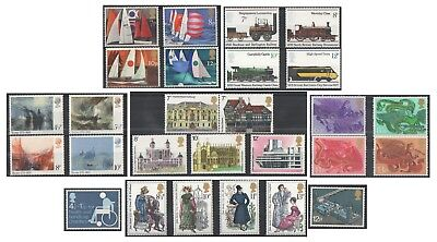 1975 Royal Mail Commemorative Sets MNH. Sold separately & as full year set.