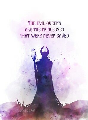 Art Print Maleficent Quote 2 Sleeping Beauty Wall Art Disney Gift
