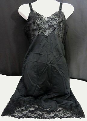 5e71a2d76e Vintage Movie Star Black Size 36 Nightgown Lace Nightie