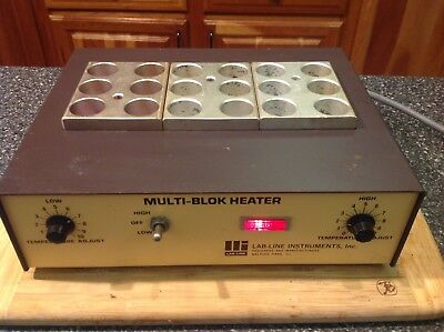 Lab-Line Multi-Block Heater Model 2093 with blocks for 25mm test tubes