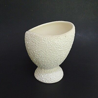 Mid Century Rocky Mountain Pottery Planter White Popcorn Textured Modern 5.75""
