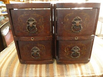 4 VINTAGE TREADLE SEWING MACHINE DRAWER WITH FRAMES 1900s