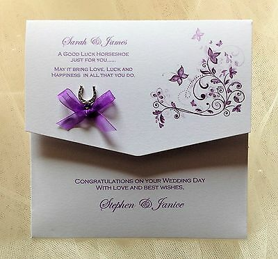 Luxury Personalised Wedding Day Money/Voucher/Gift Card/Wallet/Envelopes
