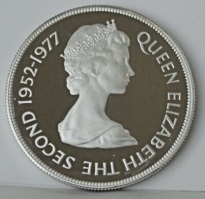 Gibralter 1977, 25 Pence ,proof,  Silver