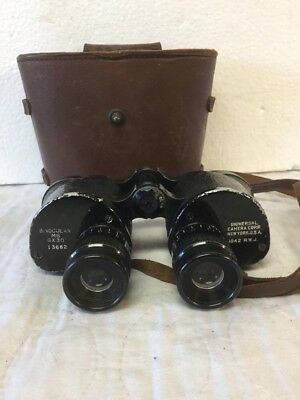 Vintage WW2 1942 Era Navy Type Binoculars Model M6 6x30 Universal Camera Corp NY