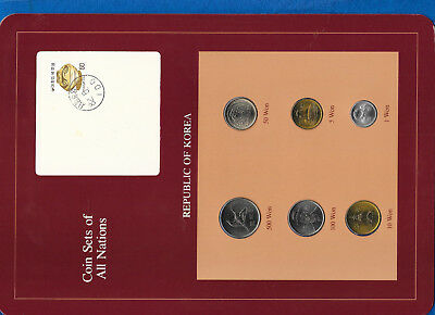 Coin Sets of All Nations Korea all 1983 but 100, 500 Won 1984 UNC