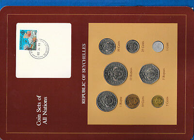 Coin Sets of All Nations Seychelles Maroon 1977 -1982 UNC 10,5 cents 1981