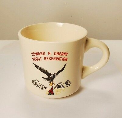 Vintage B.S.A. Boy Scouts Howard H. Cherry Scout Reservation Coffee Cup Mug