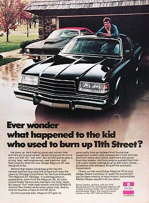 1978 DODGE MAGNUM GT Genuine Vintage Advertisement