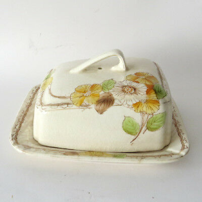 Vintage Ceramic 2 Piece Butter or Cheese Dish with Lid