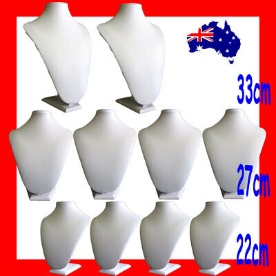 10X SUPER DEAL Padded FULL Ivory Leatherette Bust   Large   AUSSIE Seller
