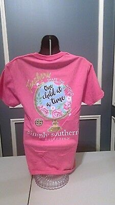 Simply Southern T-Shirt: Teachers Shape the World One Child at a Time - Pink